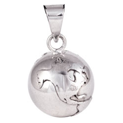 Chiming Spheres 20ESTH Small Pendant with Silver Earth