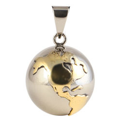 Chiming Spheres 25EGTH Large Pendant With Brass Earth