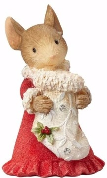 Heart of Christmas 4057652 Mouse with Stocking