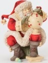 Heart of Christmas 4038657 Santa with Spinning Top