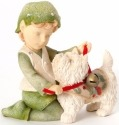 Heart of Christmas 4038665 Elf with Dog