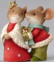 Heart of Christmas 4052779 Mouse Couple w HOLLY