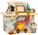 Heart of Christmas 4057650 Fireplace Lighted