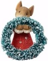 Heart of Christmas 4057653 Mouse with Wreath