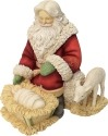 Heart of Christmas 6001372 Santa With Baby Jesus