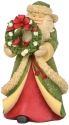 Heart of Christmas 6003885 Santa wreath & cardinals