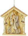 Heart of Christmas 6003911 Woodland Ornament nativity