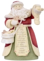 Heart of Christmas 6006522 Santa filling stocking Figurine