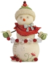 Heart of Christmas 6006524 Snowman w- Cardinals Figurine