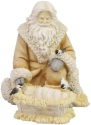 Heart of Christmas 6006538 Woodland Santa with Baby Figurine