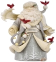 Heart of Christmas 6006539 Santa W- Flying Cardinal Figurine