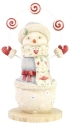 Heart of Christmas 6006549 Snowman with Treats Figurine