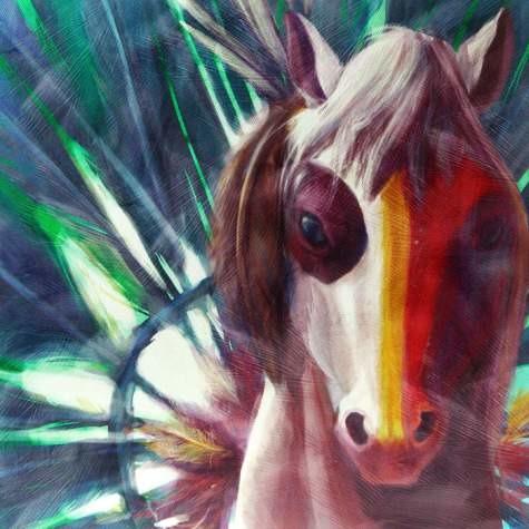 Horse of a Different Color 20545 Warrior Quarter Horse Wall Art