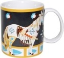 Special Sale 20591 Horse of a Different Color 20591 Many Feathers Horse Mug 14oz