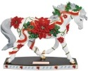 Horse of a Different Color 20612 Poinsettia Horse Figurine