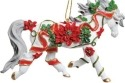 Horse of a Different Color 20642 Poinsettia Horse Ornament