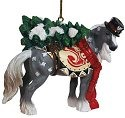 Horse of a Different Color 20648 Snowy Ornament
