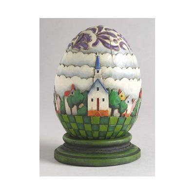 Jim Shore 4001852 Church Egg