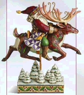 Jim Shore 4002290 Santa Did Ride