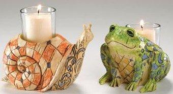 Jim Shore 4005181 Garden Animals Candleholder