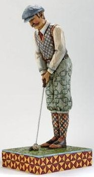Jim Shore 4005229 Lg Man Golfer Putting