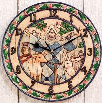 Jim Shore 4005397 St Francis Wall Clock