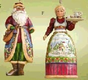 Jim Shore 4005769 Santa & Mrs Claus Ornament