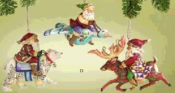 Jim Shore 4005771 Santa Animals Ornament