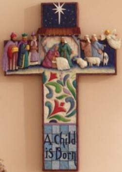 Jim Shore 4007044 Nativity Cross