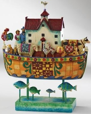 Jim Shore 4007055 And Noah Did All That The Lord Figurine