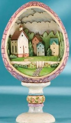 Jim Shore 4007545 Small Town Big Blessings Figurine