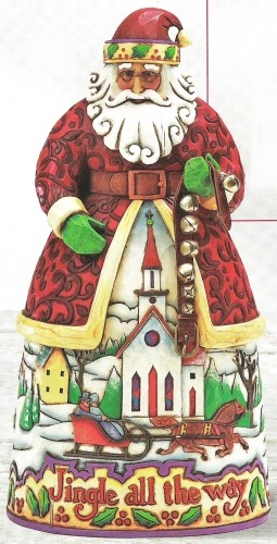 Jim Shore 4007925 Santa Jingle Bells Figurine