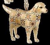 Jim Shore 4008108 Golden Retriever Ornament