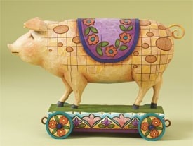 Jim Shore 4008184 Spotted Pig Figurine