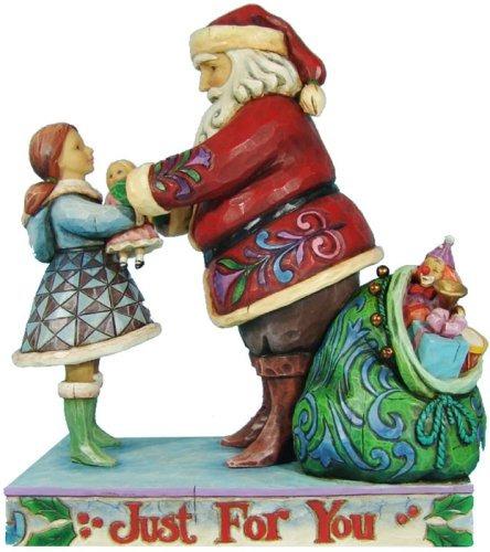 Jim Shore 4009050 Santa Girl Figurine
