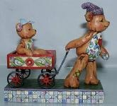 Jim Shore 4009601 Pull Me Now and I ll Pull Figurine