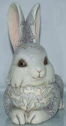 Jim Shore 4009749 Grey bunny Statue
