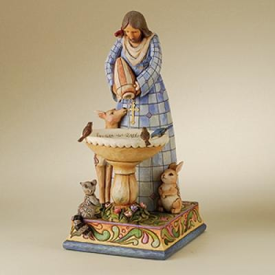 Jim Shore 4010033 St Francis Fountain Tabletop Fountain