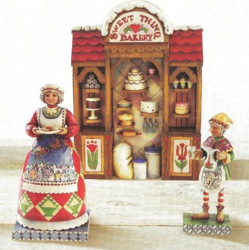 Jim Shore 4010351 Mrs Claus Elf Bakery Figurine