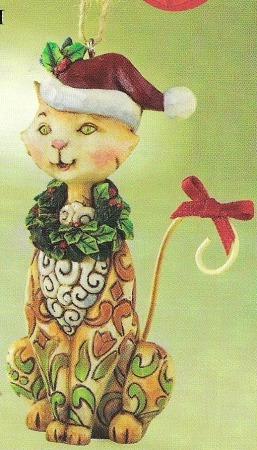 Jim Shore 4010629 Christmas Cat Ornament