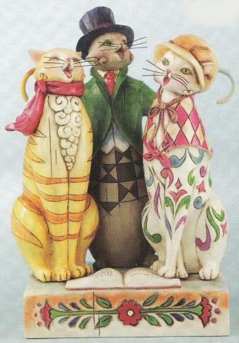 Jim Shore 4010897 Caroling Cats Figurine
