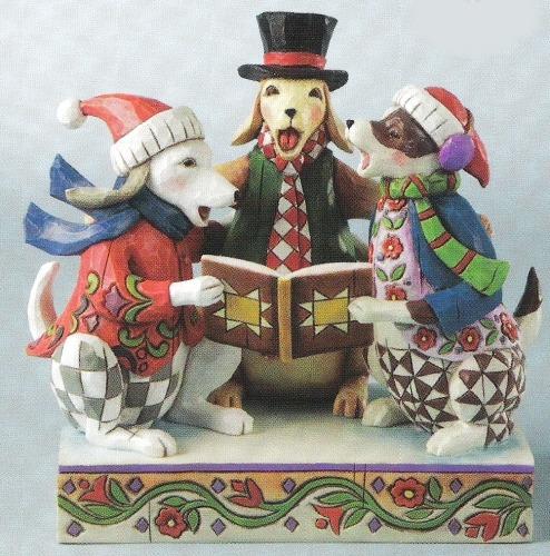 Jim Shore 4010898 Caroling Dogs