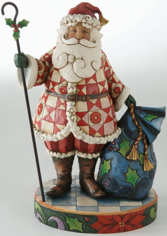 Jim Shore 4011025 Santa Figurine