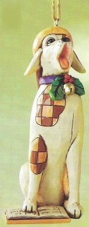 Jim Shore 4011162 Caroling Dog Ornament