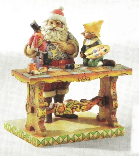 Jim Shore 4011335 Santa At Workbench Figurine