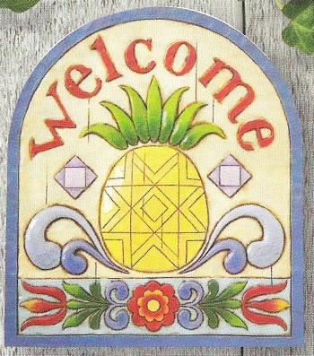 Jim Shore 4011473 Pineapple Garden Plaque
