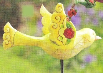 Jim Shore 4011476 Yellow Bird Garden Stake