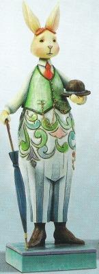 Jim Shore 4012456 Bunny Bright Figurine
