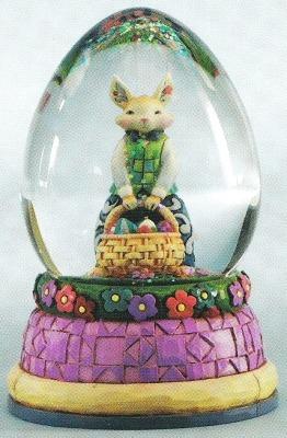 Jim Shore 4012458 Easter Rabbit Waterball