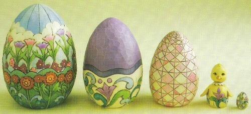 Jim Shore 4012461 Easter Eggs Nesting Boxes